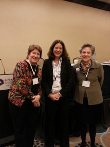 From left to right Jill Zorn, Universal Health Care Foundation of Connecticut; Debra Judy, Colorado Consumer Health Initiative,  and Leni Preston, Maryland Women's Coalition for Health Reform.