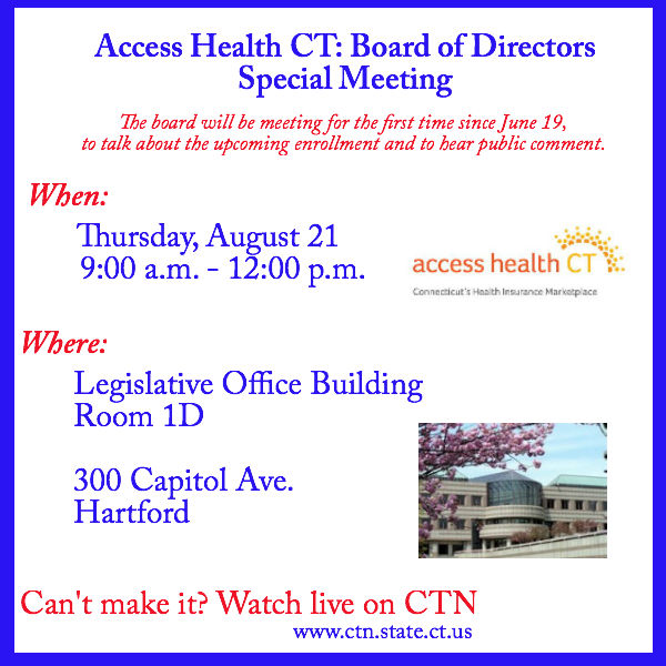 Access Health CT: Board of Directors Special Meeting ...