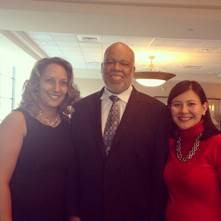 (l-r) Dr. Stacey Brown, CTMHP Chair, Dr. Adewale Troutman and Heang Tan, HealthJusticeCT Director Photo: HealthjusticeCT