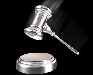 Silver or Platinum gavel