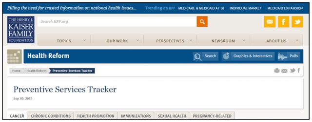 Preventive Services Tracker Graphic