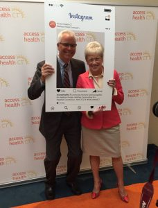 AHCT CEO Wadleigh and Board Chair Lt Gov Wyman at the conference - Image courtesy AHCT